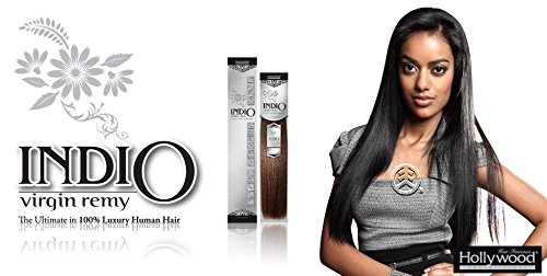 Amazon.com : Hollywood Indio Virgin Remy Human Hair Weaving Yaki 16 (2) : Beauty