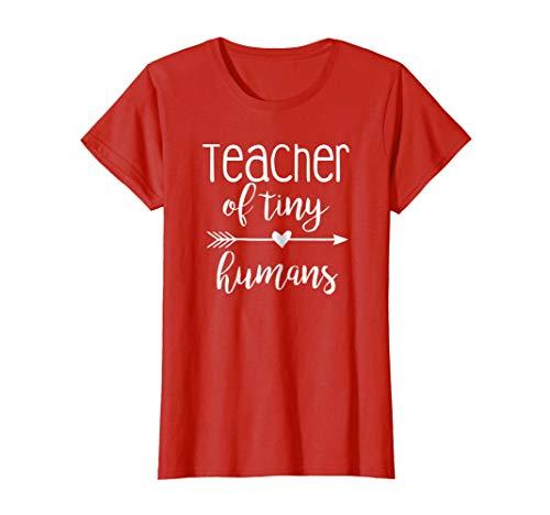 Womens Teacher of Tiny Humans Shirt Funny Kindergarten