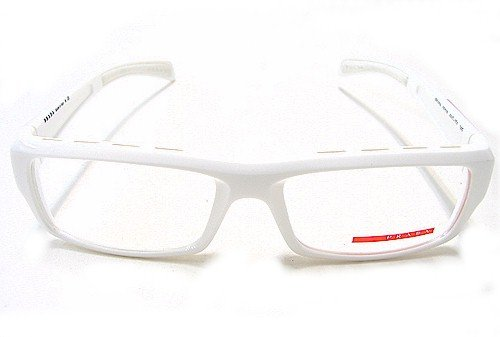PRADA VPS 05A Eyeglasses VPS05A White 4AO-1O1 Optical Frames: Amazon ...