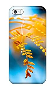 Premium Golden Foliage Back Cover Snap On Case For Iphone 5/5s