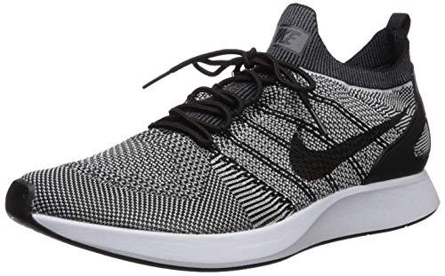 Nike Men's Air Zoom Mariah Flyknit Racer Black/Pure Platinum Ankle-High Mesh Running - 8.5M