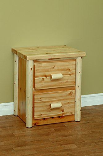 (White Cedar Classic 2 Drawer Nightstand *Unfinished*)