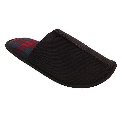 Slumberzzz Mens Slip-on Manchester Tofflor Svart