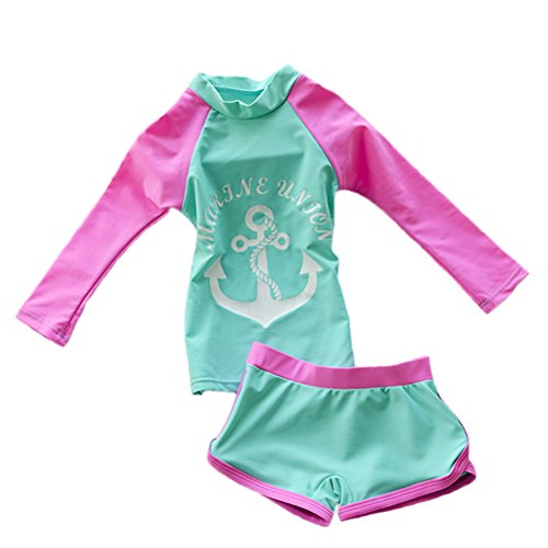 Baby Toddler Girls Long Sleeve Swimsuit ...