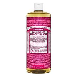 Dr Bronner's 946 ml Organic Rose Castile Liq...