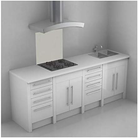 Fondo de campana extractora 60 cm, diseño de emoticonos Polyrey madera, diseño agrietado, color blanco: Amazon.es: Bricolaje y herramientas