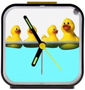 Best Custom Yellow Rubber Ducks On The Water Square Black Alarm Clock 100 Quartz