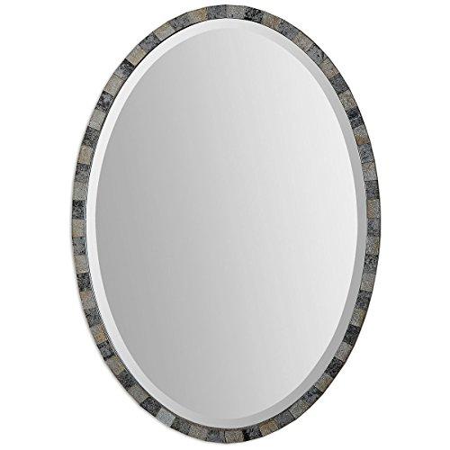 - Uttermost 12859 Paredes Oval Mosaic Mirror, Brown