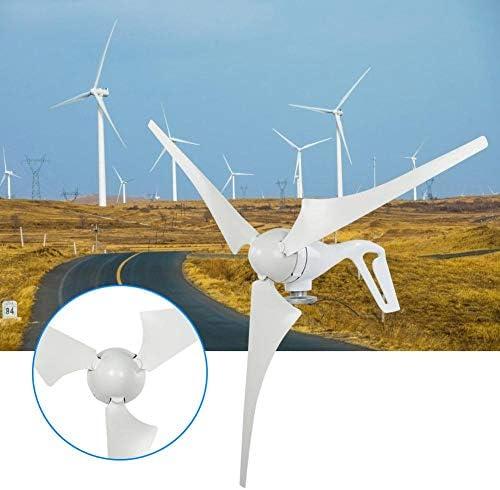 Jarchii Windgenerator, 12V/24V 100W 3PCS 580mm Nylonfaser Wind Flabellums Power Windmühle Wind Turbor Generator für Outdoor-Reisen Wandern Hinterhof Fabrik(24V)