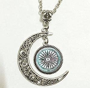 Greek Necklace Ancient Greek Glass Pendant Necklace Greek Mythology Necklace Lost In The City Of Atlas