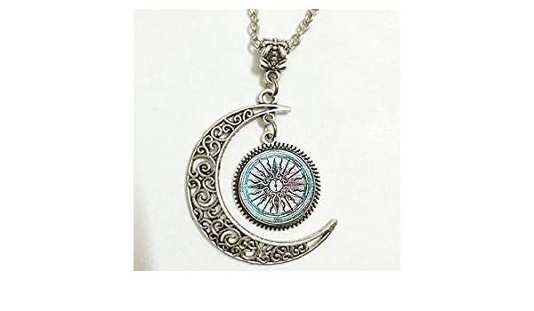 Amazon com: Charm Crescent Moon Greek Necklace Ancient