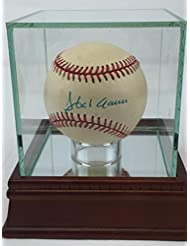 Signed Hank Aaron Ball - NL Coa Steiner ballcase included 7772 - PSA DNA Certified - Autographed Bas