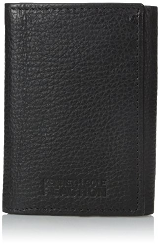 Kenneth Cole Tri Fold Wallet (Kenneth Cole REACTION Men's Broad Street Trifold Wallet, Black, One Size)