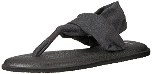Sanuk Women's Yoga Sling 2 Flip Flop, Charcoal, 8 M US (Charcoal Two)