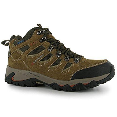 Karrimor para Hombre modelo de mediados de capa resistente al agua Soporte de marco de botas de cordones de senderismo de zapatos de Flex negro