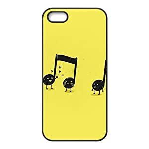cute music note yellow backgrounds personalized high quality cell phone case for Iphone 6 plus 5.5