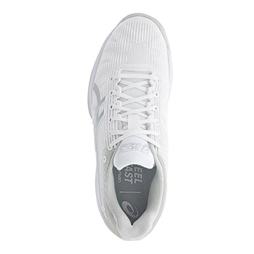 Solution Clay Tennis White 6 Speed ASICS Shoe Womens Size FF 5 Silver TxqRWwf6