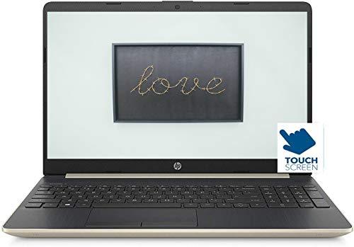 Hp 15 Premium Laptop Computer PC, 15.6 inch HDTouchscreen Micro-Edge Display, 8th Gen Intel Core i3-8145U up to 3.9GHz, 8GB DDR4 256GB SSD USB 3.1 Type-C 802.11ac BT 4.2 HD Camera Win 10 Pro-Gold