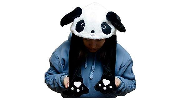 VIccoo Niños Adultos Felpa Corta Lindo 3D Panda de Dibujos ...