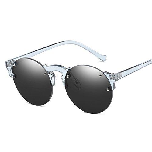 lunettes 1 soleil vintage 1 Mode Marque monture Unisexe nbsp;paire Steampunk rond sans de Designer de Nuances Loegrie 001 AxtqFT4x