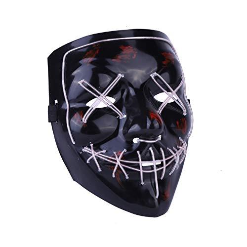 Kimkoala LED Light Cosplay Mask Halloween Frightening EL