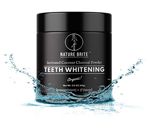 NATURE BRITE Teeth Whitening Charcoal Powder Natural Best Organic Activated Coconut Charcoal Powder, Non-abrasive, Non-toxic & No Preservatives Fights all types of Stains