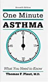 One Minute Asthma, Thomas F. Plaut, 0914625284