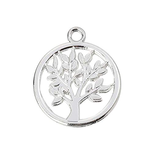 Tree of Life Charm Pendants, 10 Pack, 17mm (5/8