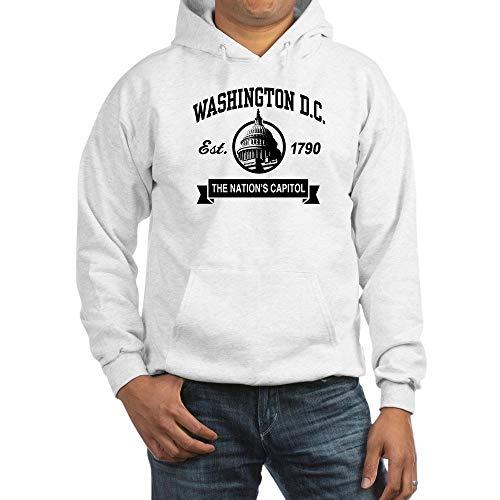 (CafePress Washington DC Pullover Hoodie, Classic & Comfortable Hooded Sweatshirt White)