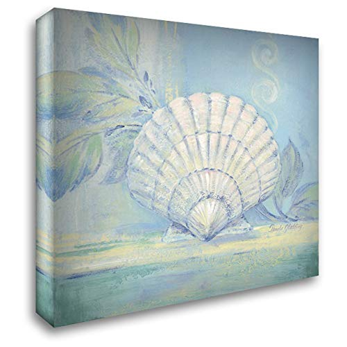- Tranquil Seashell IV 20x20 Gallery Wrapped Stretched Canvas Art by Gladding, Pamela