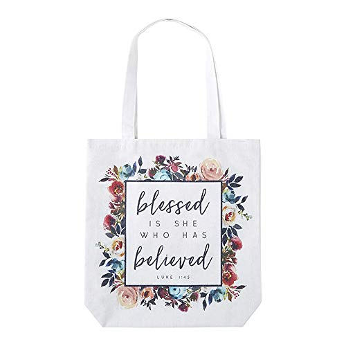 Blessed Is She Who Has Believed Tote Bag]()