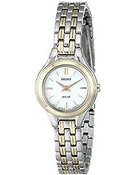 Seiko Womens SUP210 Classic Solar-Power Two-Tone Watch