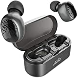 Upgraded Bluetooth 5.0 Wireless Earbuds, AairHut A3 Deep Bass Dual-Microphone True Wireless Sports Earbuds with Easy Pair Tech and Portable Charging Case