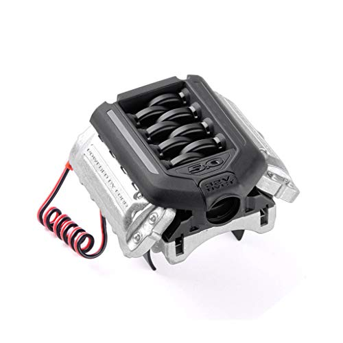 (TANGON LS3 V8 6.2L Engine Realistic Motor with Radiator Cooling Fan Heat Dissipation RC Simulation Accessories for 1/10th Scale Traxxas TRX4 D90 D110 D130 SCX10)