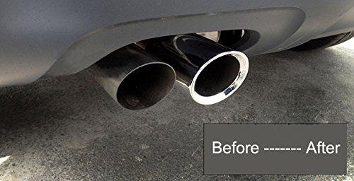 Nuova pezzi in acciaio INOX cromato coda tubo di scarico silenziatore tubo di scappamento per Passat 2012 2013 2014 2015 2016 2017 2018 2019 2020