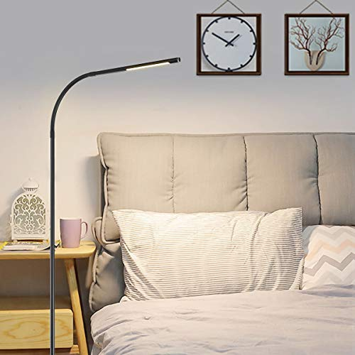 Brightech Leaf Touch Led Floor Lamp For Reading Crafts Amp Precise Tasks Standing Modern
