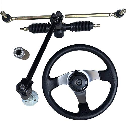 Kinbelle 110cc Chinese Go Kart Quad Parts 30cm Steering Wheel Assembly Full Steel 32cm Gear Rack Pinion
