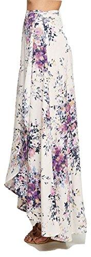 Love Stitch Floral Printed Wrap Skirt Violet (Medium) by Love Stitch (Image #1)