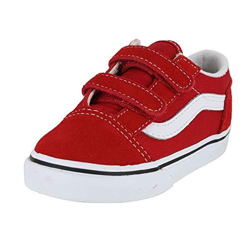 Vans Toddler Old Skool V INF Racing RED True White Size 8 -