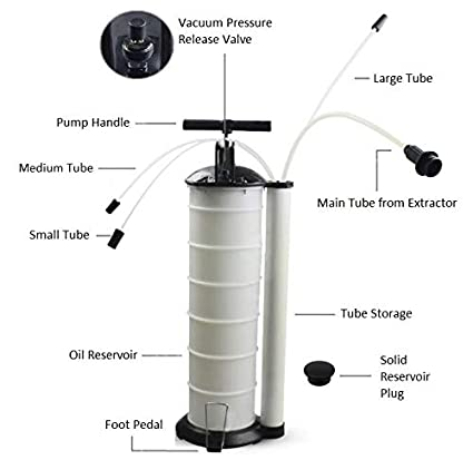 Brine Marine Oil Changer Fluid Extractor Vacuum Pump 7Qt (6 8L) Manual