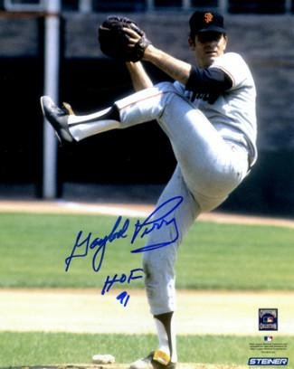 Signed Perry Photo - 8x10 HOF 91 pitching)- Steiner Hologram - Autographed MLB Photos