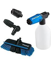 Nilfisk Click & Clean accessoireset voor het reinigen van voertuigen met hogedrukreinigers; compatibel met Nilfisk hogedrukreinigers; ideaal voor het reinigen van auto's & motore, banden & velgen
