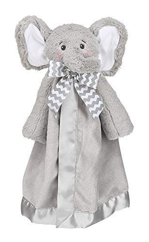 Bearington Baby Lil' Spout Snuggler, Gray Elephant Security Blanket, 15 inches (Bearington Baby Diaper Bag)