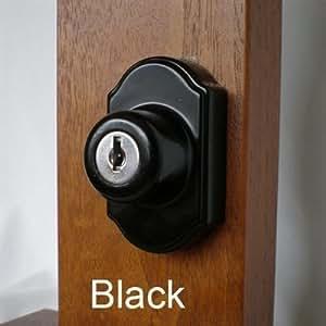 Keyed Storm Door Deadbolt Black 1 Inch Thick Door