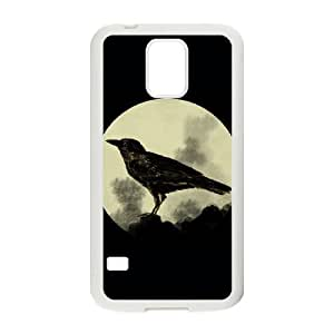 Samsung Galaxy S5 Cell Phone Case White Crow 2 DQJ Design Customized Cell Phone Case