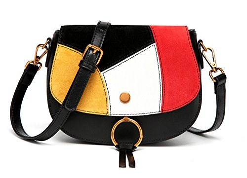 Bolsos de señora Xinmaoyuan Hit Single Color Diagonal hombro paquete femenino señoras bolso simple Negro