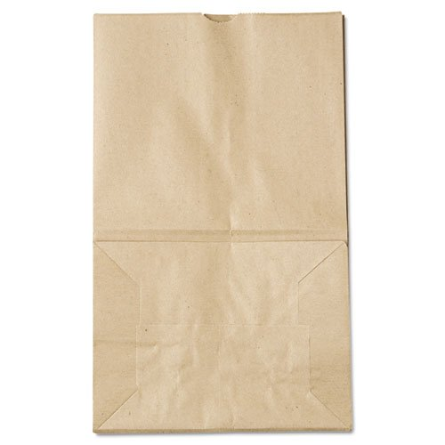* 20# Squat Paper Bag, 40lb Kraft, Brown, 8 1/4 x 5 15/16 x 14 3/8, 500/Pack