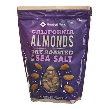 Member's Mark Dry Roasted Almonds with Sea Salt (40 oz.) (pack of 6)