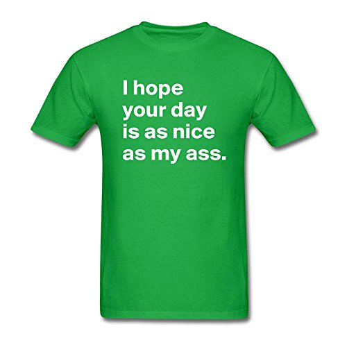 LOVELIN Men's I Hope Your Day Graphic Printed T - Fashion Brown Chris Trends