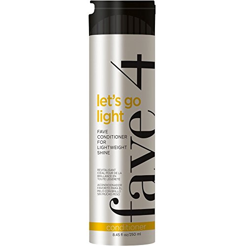 - fave4 Let's Go Light Fave Conditioner for Lightweight Shine - Sulfate Free | Paraben Free | Gluten Free |No Added Sodium Chloride | Cruelty Free | Safe for Color Treated Hair, 8.45 oz